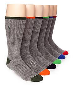 Polo Ralph Lauren 6-Pack Technical Sport Crew Socks