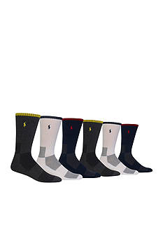 Polo Ralph Lauren Tipped Multi Mesh Crew Socks - 6 Pack