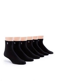 Polo Ralph Lauren 6-Pack Rib Quarter Length Socks