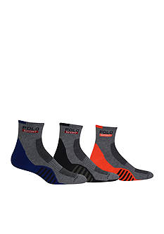 Polo Ralph Lauren Racing Stripe Sole Contrast Quarter Socks - 3 Pack