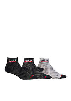 Polo Ralph Lauren Snow Camo Quarter Socks - 3 Pack