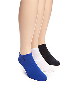 Polo Ralph Lauren Technical Sport No Show Socks - 3 Pack