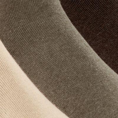Black Designer Socks for Men: Olive Asst Polo Ralph Lauren 3-Pack Crew Rib Cushioned Socks