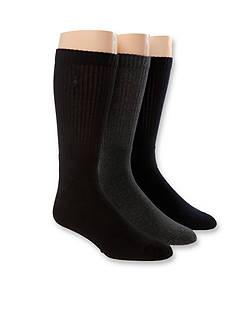 Polo Ralph Lauren 3-Pack Crew Rib Cushioned Socks