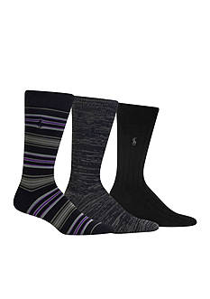 Polo Ralph Lauren Stripe Trouser Socks - 3 Pack
