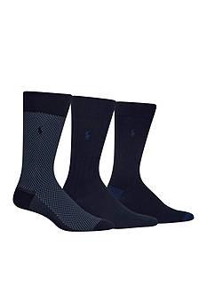 Polo Ralph Lauren Supersoft Birdseye Socks - 3 Pack