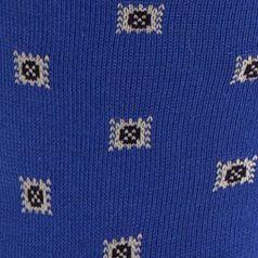 Casual Socks for Guys: Royal Polo Ralph Lauren Birdseye Square Foulard Crew Socks - Single Pair