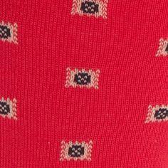 Casual Socks for Guys: Red Polo Ralph Lauren Birdseye Square Foulard Crew Socks - Single Pair
