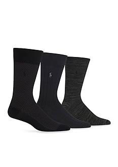 Polo Ralph Lauren Supersoft Birdseye Trouser Socks - 3 Pack
