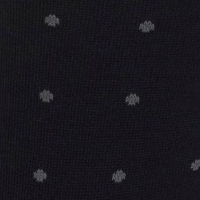 Black Designer Socks for Men: Black/Gray Polo Ralph Lauren Polo Player Dots Trouser Socks - 2 Pack
