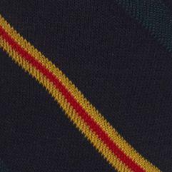 Casual Socks for Guys: Navy Polo Ralph Lauren Multi Diagonal Crew Socks - Single Pair