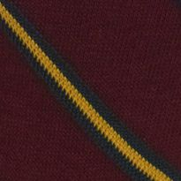 Casual Socks for Guys: Wine Polo Ralph Lauren Multi Diagonal Crew Socks - Single Pair