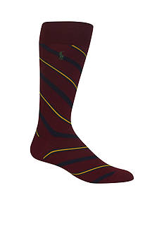 Polo Ralph Lauren Multi Diagonal Crew Socks - Single Pair