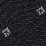 Black Designer Socks for Men: Black Polo Ralph Lauren Striped Diamond Socks - Single Pair