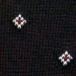 Black Designer Socks for Men: Purple Polo Ralph Lauren Striped Diamond Socks - Single Pair