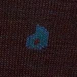 Black Designer Socks for Men: Chocolate Polo Ralph Lauren All Over Paisley Socks - Single Pair