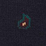 Black Designer Socks for Men: Navy Polo Ralph Lauren All Over Paisley Socks - Single Pair