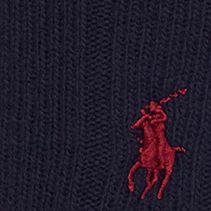 Black Designer Socks for Men: Navy Polo Ralph Lauren Trouser Crew Socks - Single Pair
