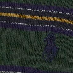 Casual Socks for Guys: Hunter Polo Ralph Lauren Multi Color Stripe Crew Socks - 2 Pack