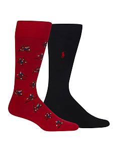 Polo Ralph Lauren Tumbling Skiers Print Socks - 2 Pack