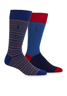 Polo Ralph Lauren Stripe Trouser Socks 2-Pack