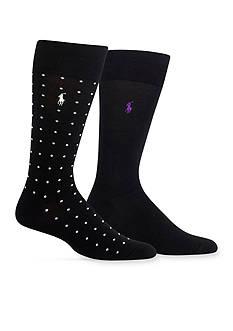 Polo Ralph Lauren Polka Dot Trouser Socks 2-Packs