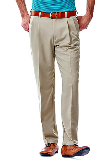 Haggar® Cool Microfiber Classic-Fit Pleated Non-Iron Pants