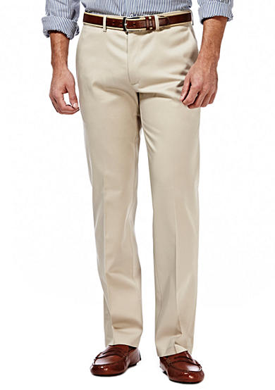 Haggar® Premium Stretch Straight-Fit Flat-Front Pants