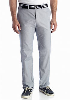 Haggar® Straight-Fit Fashion Stripe Poplin Pants