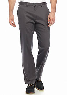 Haggar Big & Tall Premium Non-Iron Classic-Fit Flat-Front Pants