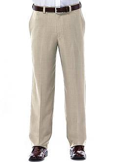 Haggar eCLo™ Stria Classic-Fit Flat-Front Expandable Waist Dress Pants