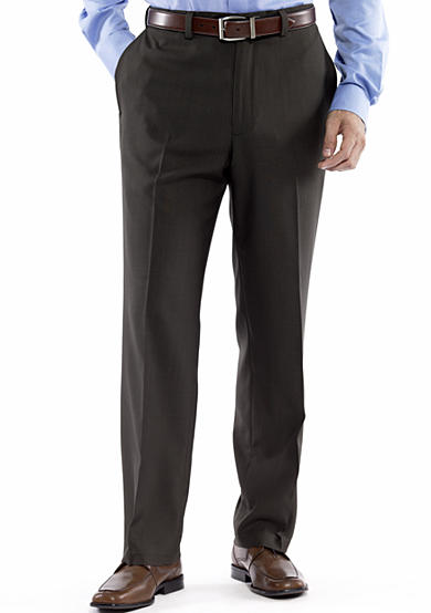Haggar&reg; Repreve Stria Dress Pant - Classic Fit, Flat Front, Expandable Waist<br>