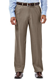 Haggar® eCLo™ Stria Classic-Fit Flat-Front Expandable Waist Dress Pants