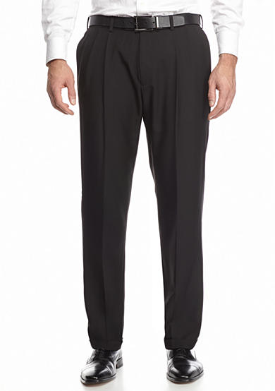 Haggar® eCLo Stria Pleated Dress Pants