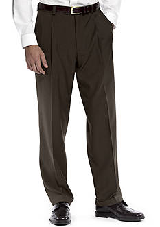 Haggar Classic Fit Repreve Dress Stria Pleated Pants