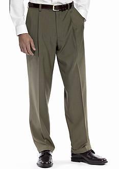 Haggar® Classic Fit Repreve Dress Stria Pleated Pants