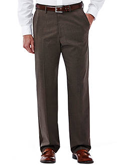 Haggar® Classic-Fit Flat-Front Premium Stretch Dress Pants