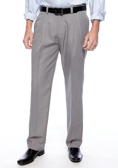 Haggar® Smart Fiber Straight Fit Pleated Non-Iron Dress Pants