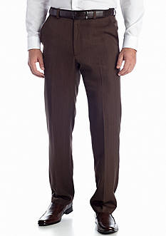 Haggar Textured Stria Classic Fit Non-Iron Pant