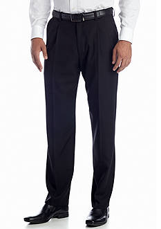 Haggar Classic-Fit Pleated Non-Iron Pants