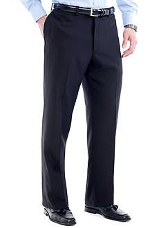 Haggar® Big & Tall eCLo™ Stria Classic-Fit Flat-Front Dress Pants