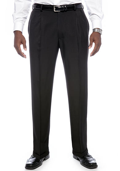 Haggar® Big & Tall eCLo™ Stria Classic-Fit Pleated Dress Pants