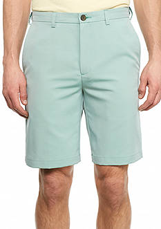 Haggar 9.5 inch Classic-Fit Flat-Front Non-Iron Cool 18® Shorts