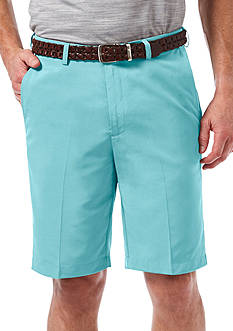 Haggar 9-inch Classic-Fit Flat-Front Hidden Expandable Waistband Cool 18® Shorts