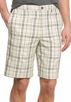 Haggar® Cool 18 Plaid Performance Shorts