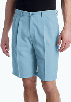 Haggar® 9.5-in. Classic-Fit Pleated Non-Iron Cool 18® Shorts
