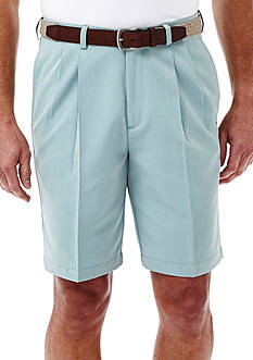 Haggar® 9.5 inch Classic-Fit Pleated Non-Iron Cool 18® Shorts