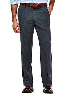 Haggar Travel Performance Tailored Fit Stria Gabardine Suit Pants