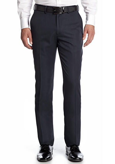 Haggar® Tailored Fit Wrinkle Free Stria Stripe Flat Front Performance Suit Separate Pants