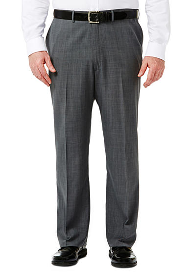 Haggar® Big and Tall Travel Performance Classic Fit Stria Gabardine Suit Pants